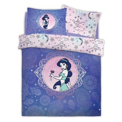 OFFICIAL ALADDIN PRETTY AS PAISELY REVERSIBLE SINGLE DUVET SET