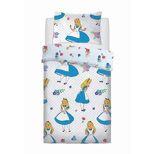 OFFICIAL ALICE IN THE WONDERLAND FALLING REVERSIBLE SINGLE DUVET SET