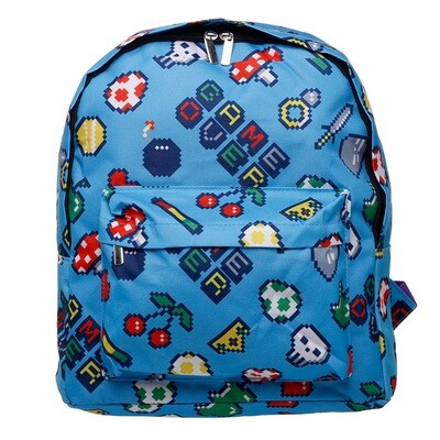 Kids School RucksackBackpack - Retro Gaming Design