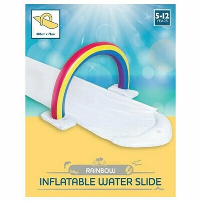 INFLATABLE RAINBOW DESIGN WATER SLIDE