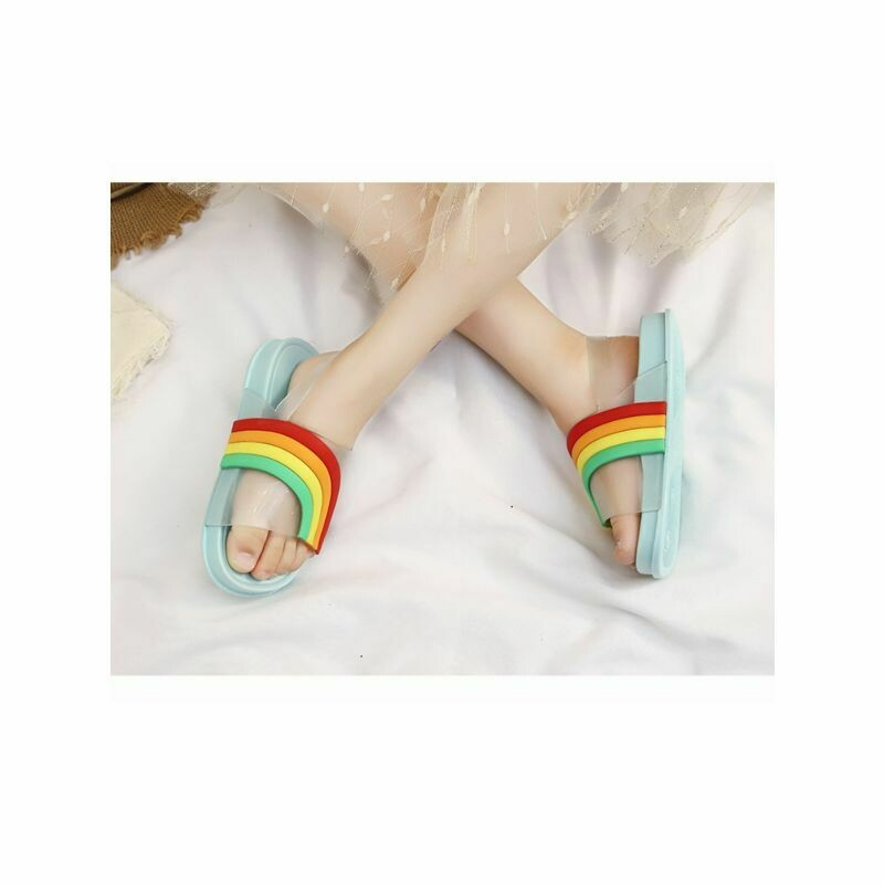 Kids Rainbow Pattern Sandals