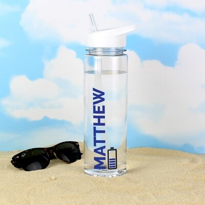 Personalised Blue Fuel Island Water Bottle