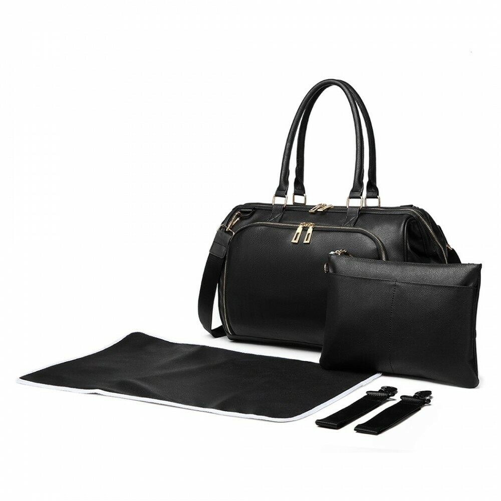 MISS LULU LEATHER LOOK 3 PIECE CHANGING BAG SET