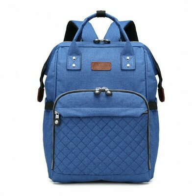 KONO WIDE OPEN DESIGNED BABY DIAPER CHANGING BACKPACK BLUE