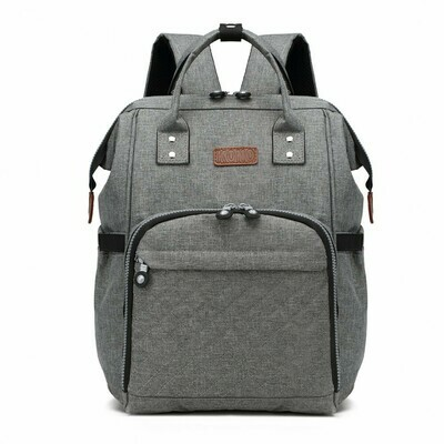 KONO WIDE OPEN DESIGNED BABY DIAPER CHANGING BACKPACK GREY