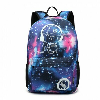 GALAXY GLOW IN THE DARK BACKPACK BLUE