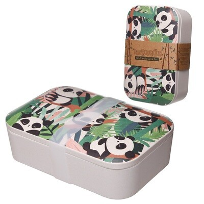 Bamboo Eco Friendly Pandarama Design Lunch Box