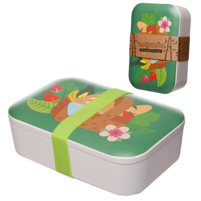 Bamboo Eco Friendly Sloth Design Lunch Box