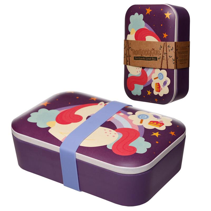 Bamboo Eco Friendly Sweet Dreams Unicorn Lunch Box