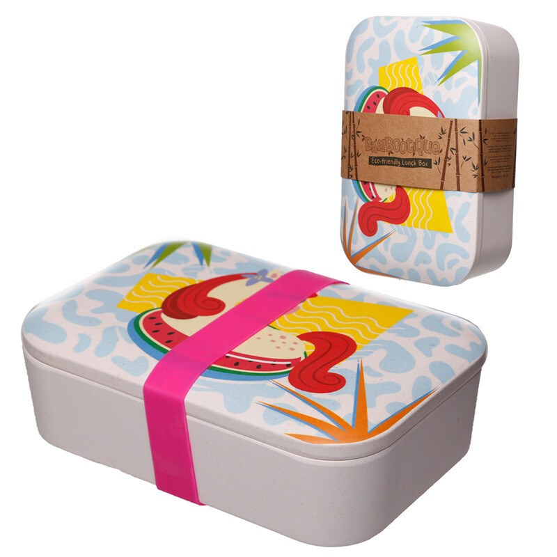 Bamboo Eco Friendly Unicorn Design Lunch Box