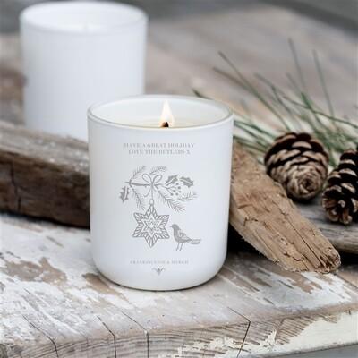 personalised Luxury Christmas Bird Soy Candle