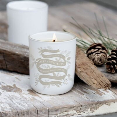 Personalised Christmas Ribbon Soy Candle