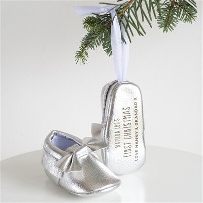 First Christmas Bootie Tree Decoration