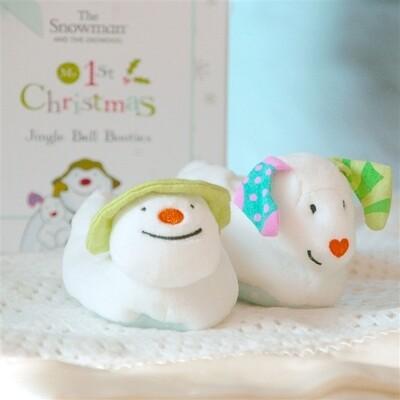 Snowman & Snowdog First Baby Booties