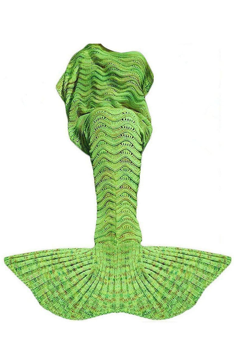 GREEN MERMAID TAIL BLANKET