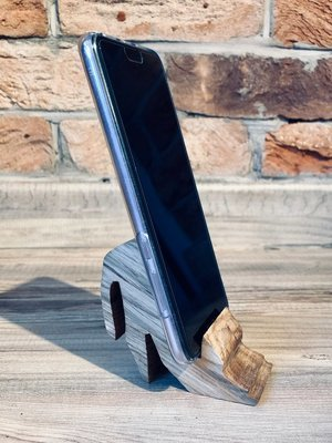 Daddy's Workshop - Handcrafted Solid Oak Cat Mobile Phone Holder / Stand