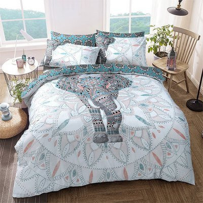 ELEPHANT MANDALA REVERSIBLE DUVET SET