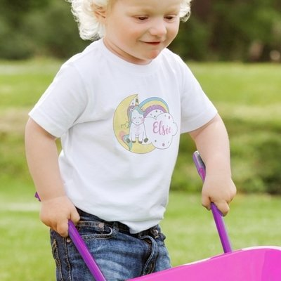 Personalised Baby Unicorn T shirt
