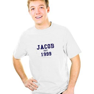 Personalised Established Blue Text Tshirt