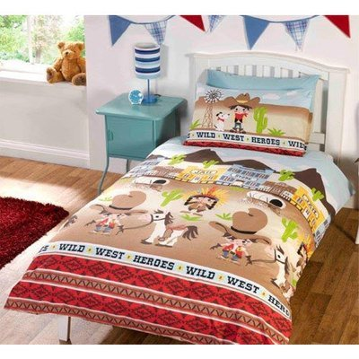 CHILDRENS FUN FILLED BEDDING - WILD WEST