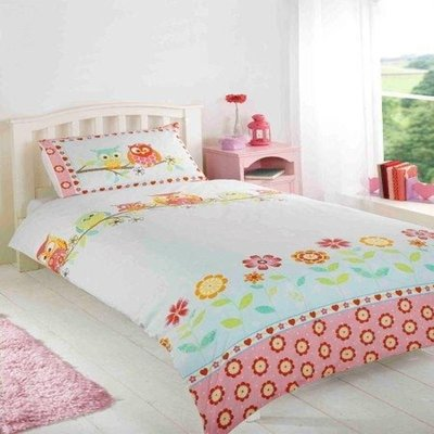 CHILDRENS FUN FILLED BEDDING - OWLS