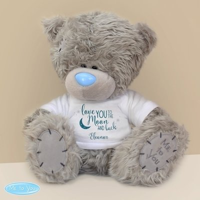 Personalised Me to You Bear with 'To the Moon and Back' T-Shirt