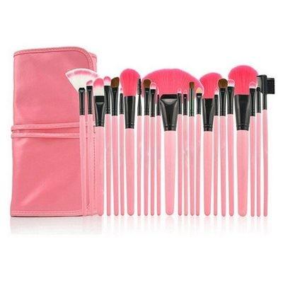 24pcs Pink Makeup Brush Set