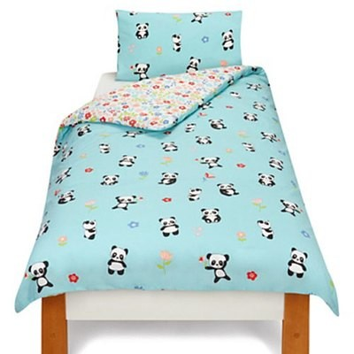 PANDA TODDLER BED DUVET SET