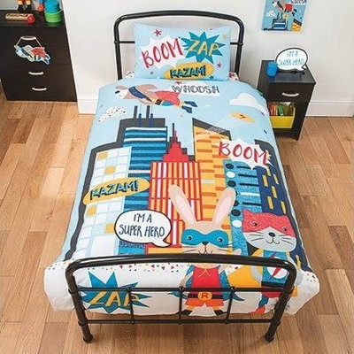 SUPER ANIMALS SINGLE BED DUVET SET