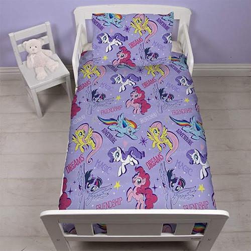 MY LITTLE PONY PURPLE 4 PIECE TODDLER BED SET