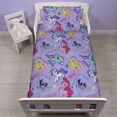 MY LITTLE PONY PURPLE 4 PIECE TODDLER BED SET