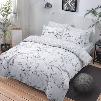 MARBLE GREY REVERSIBLE DUVET SET
