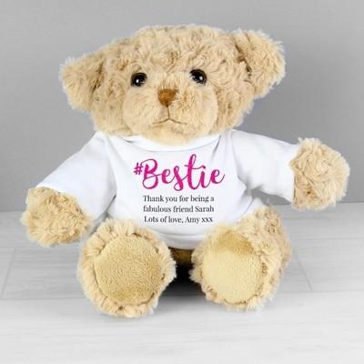 Personalised #Bestie Teddy