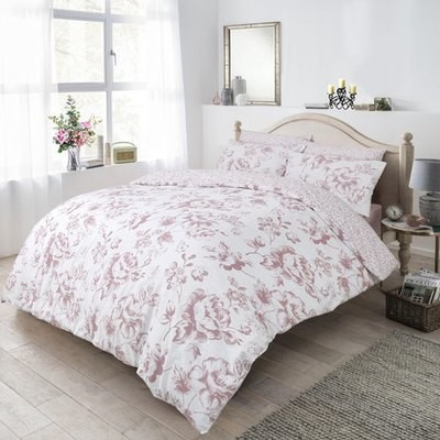 FLORAL BLUSH REVERSIBLE DUVET SET