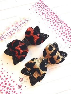 Maya's Bows - Glitter Leopard Bows