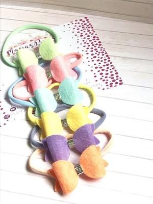 Maya's Bows - Pastel Rainbow Felt Bow Collection