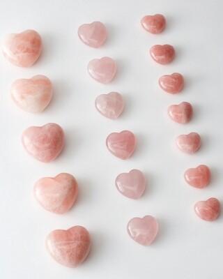 Сердечко из розового кварц M