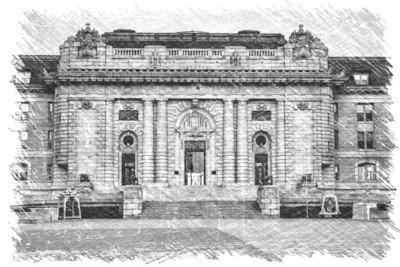 Bancroft Hall Sketch