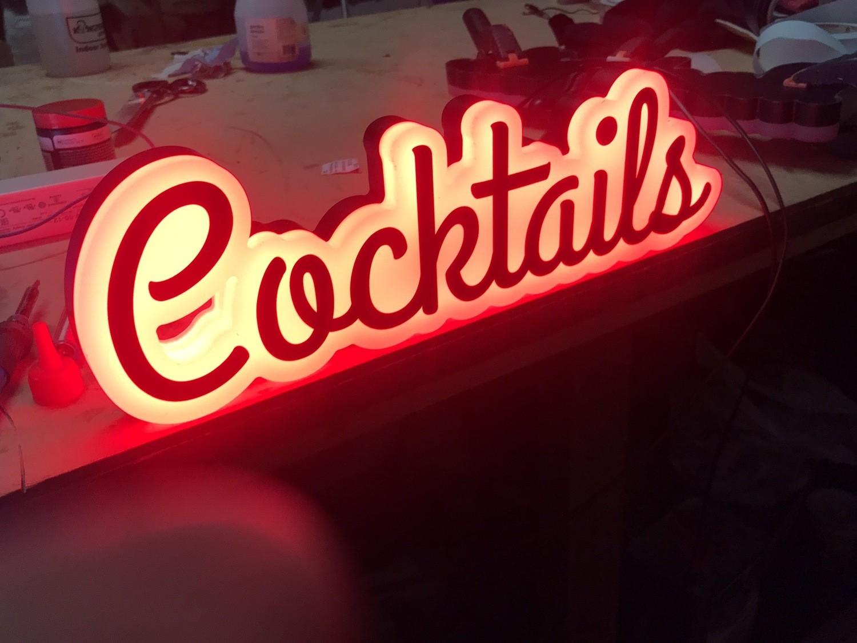 24v Cocktail Sign