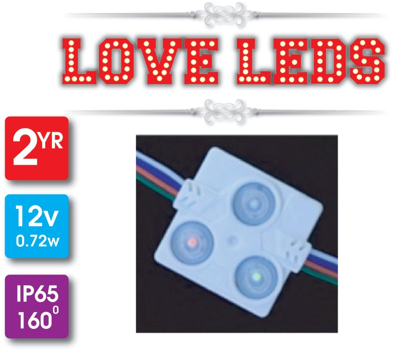 NEW MODEL RGB3 40*40 0.72w 12v