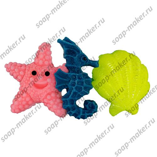 Набор звезда конек и ракушка 2D