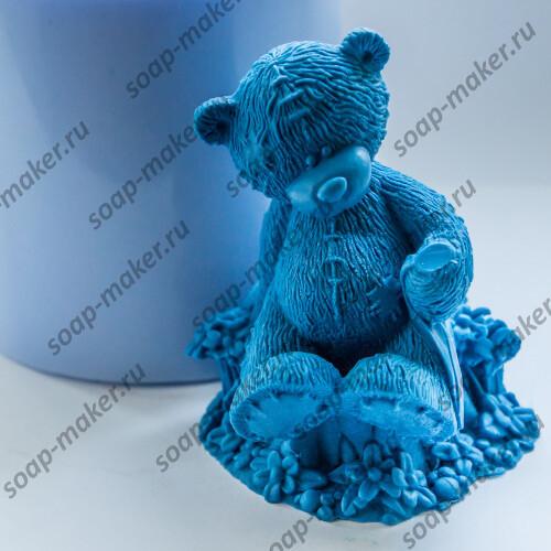 Тедди на пеньке 3D