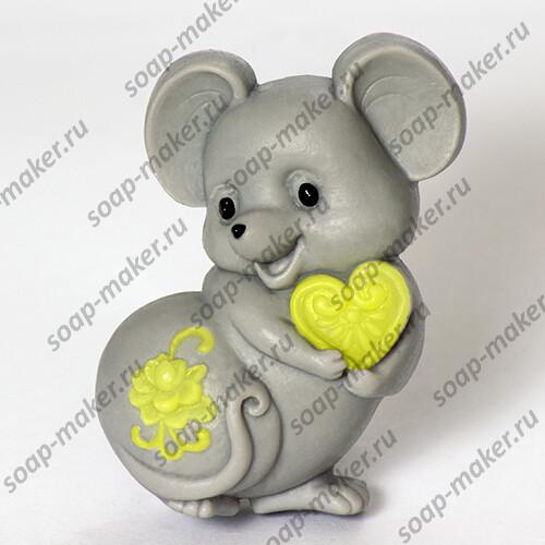 Мышка с сердцем 2D