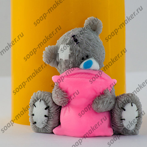 Тедди с подушкой 3D