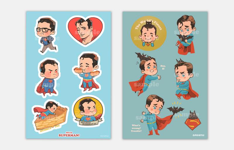 PRE-ORDER DC Superman/Batman Stickers