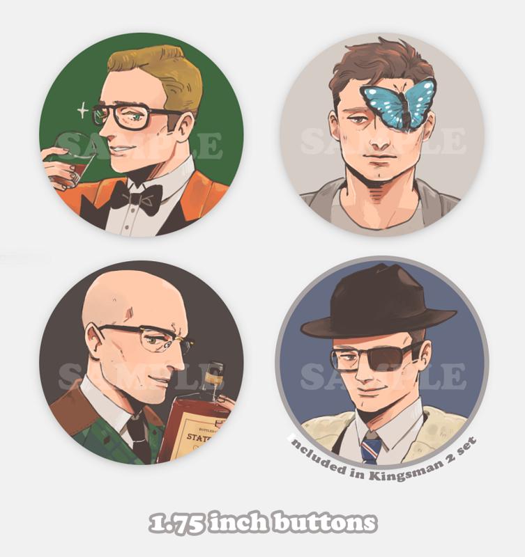 Kingsman 2 Buttons