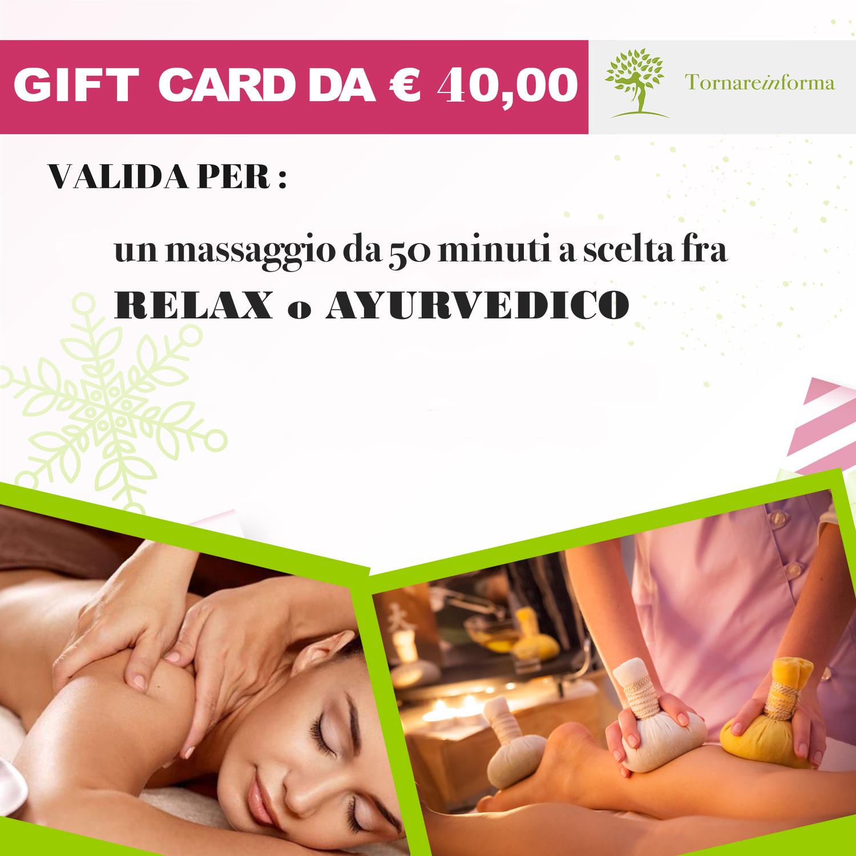 GIFT CARD TORNAREINFORMA 40€ 00000