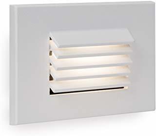 LED LOUVERED RECTANGLE STEP LIGHT - 12V - 3000K