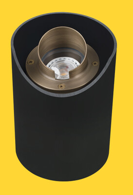 CL-232-AB - Corona Cast Brass Adjustable Well Light In PVC Housing