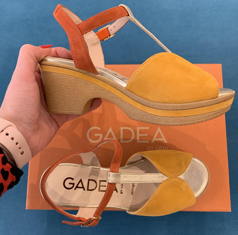 Saffron Wooded Heel Open Toe Sandal